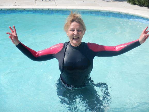 En piscine
